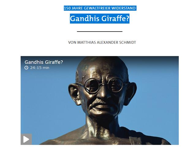 150 Jahre gewaltfreier Widerstand - Gandhis Giraffe?