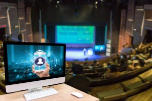 Digitale Veranstaltung in einem Hörsaal
